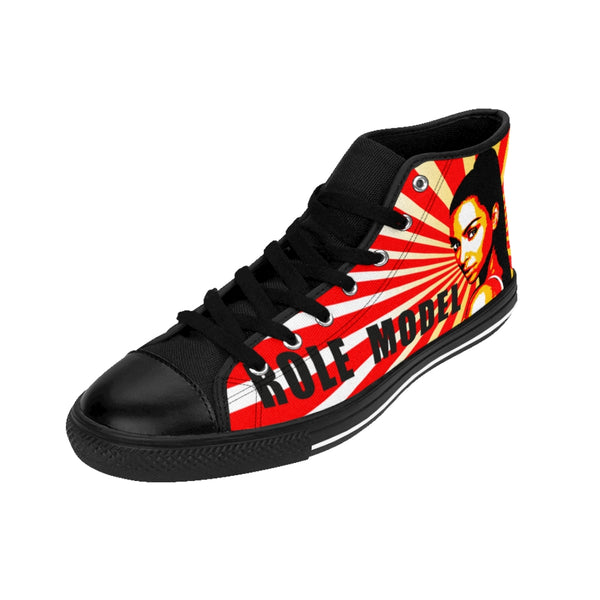 Kim Kardashian Role Model Red Womens High-top Sneakers-All Over Print, Shoes, Women's Clothing-Etsy-TrumpVaderStore-TheWorlddiscountstore