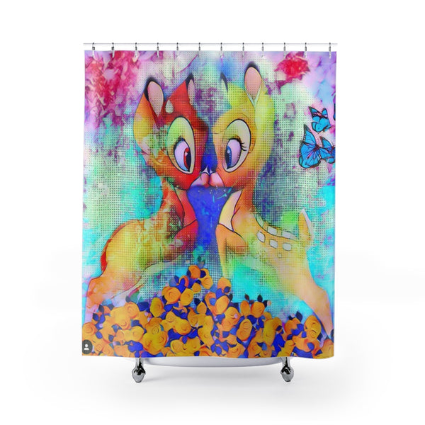 Shower Curtain Bambi Kiss-All Over Print, Bathroom, Home & Living-Etsy-TrumpVaderStore-TheWorlddiscountstore