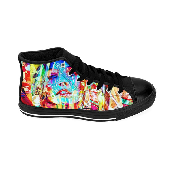 Men's High-top Sneakers Blonde Bombshell-All Over Print, Men's Clothing, Shoes-Etsy-TrumpVaderStore-TheWorlddiscountstore
