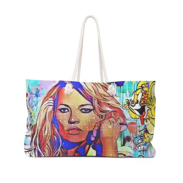 Kate Moss Close up Weekender Bag