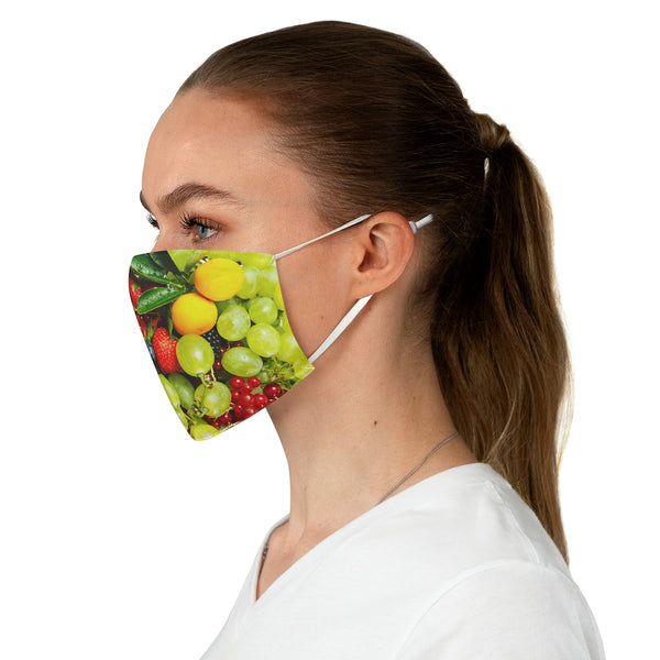 Berries and Grapes Fabric Face Mask