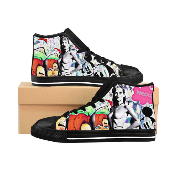 Men's High-top Sneakers Kate Moss Bunny-All Over Print, Men's Clothing, Shoes-Etsy-TrumpVaderStore-TheWorlddiscountstore