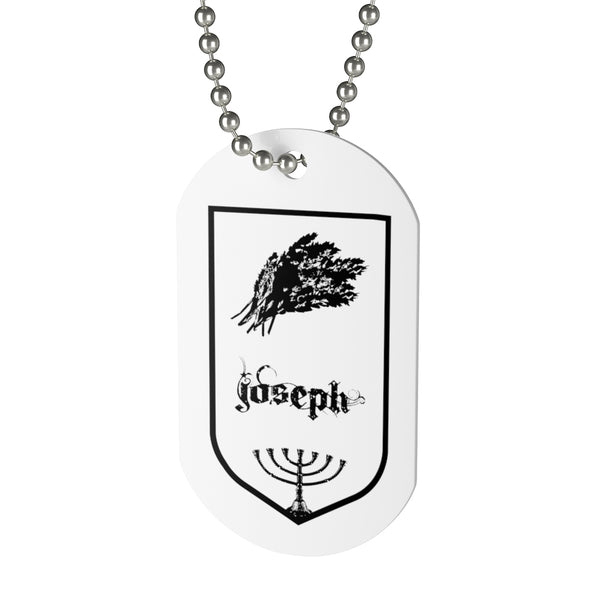Joseph, Tribes of Israel, Beaded Aluminum Tag with Chain-Accessories, Home & Living, Jewelry, Pets, Silver-Etsy-TrumpVaderStore-TheWorlddiscountstore