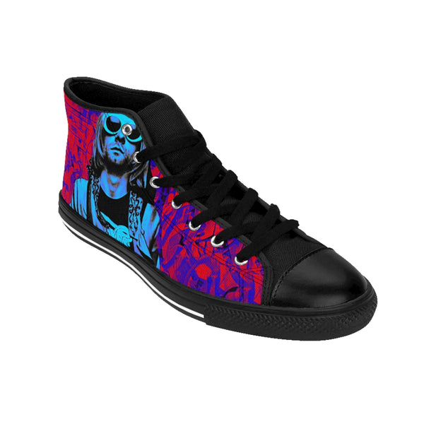 Men's High-top Sneakers Nirvana Kurt Cobain Blue-All Over Print, Men's Clothing, Shoes-Etsy-TrumpVaderStore-TheWorlddiscountstore