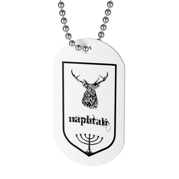 Naphtali, Tribes of Israel, Beaded Aluminum Tag with Chain-Accessories, Home & Living, Jewelry, Pets, Silver-Etsy-TrumpVaderStore-TheWorlddiscountstore