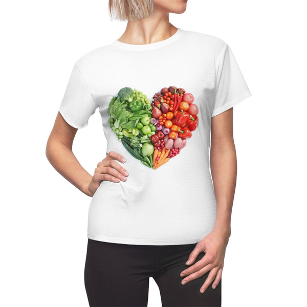 Love Vegan Heart Women's T-shirt Polyester Regular fit