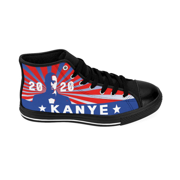Kanye West For President 2020 Men's High-top Sneakers-All Over Print, Men's Clothing, Shoes-Etsy-TrumpVaderStore-TheWorlddiscountstore
