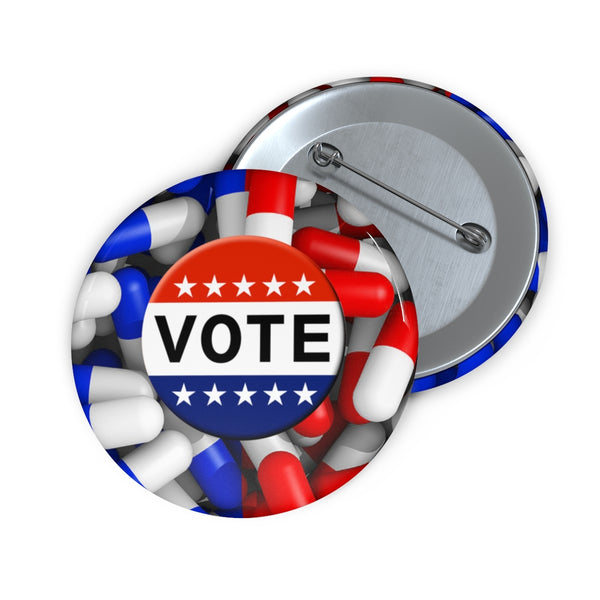 Vote2020 Presidential Elections Blue Red Pill Pin Buttons