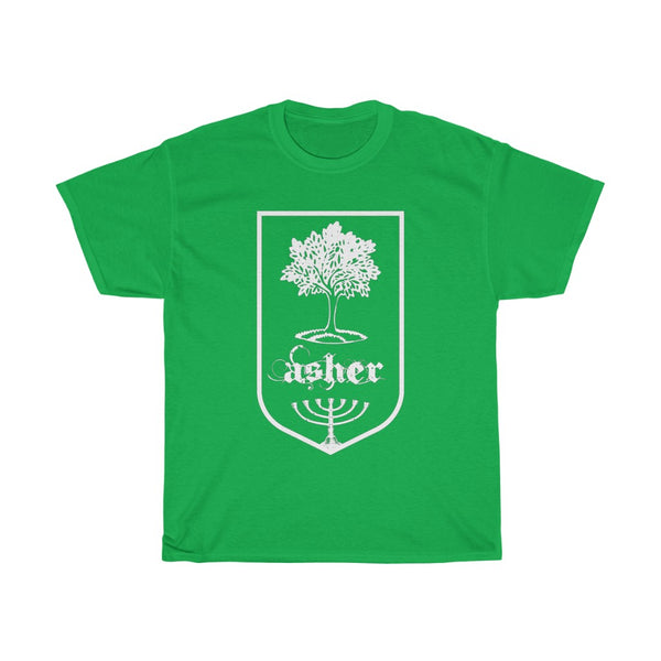 "Tribes of Israel ""Asher"" T-shirt Men's Cotton"