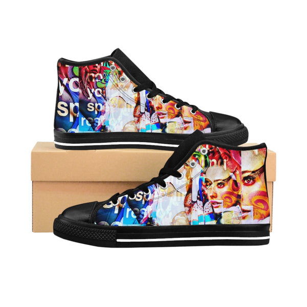 Pop Star16 Men's High-top Sneakers-worlddiscountstore