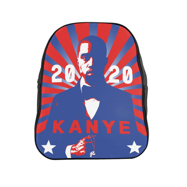 Kanye West for President 2020 Red And Blue School Backpack-Accessories, All Over Print, Backpacks, Bags-Etsy-TrumpVaderStore-TheWorlddiscountstore