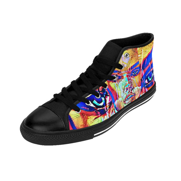 Brunette Bombshell Womens High-top Sneakers-All Over Print, Shoes, Women's Clothing-Etsy-TrumpVaderStore-TheWorlddiscountstore