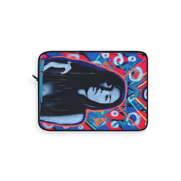 Blue Face Super Model Laptop Sleeve