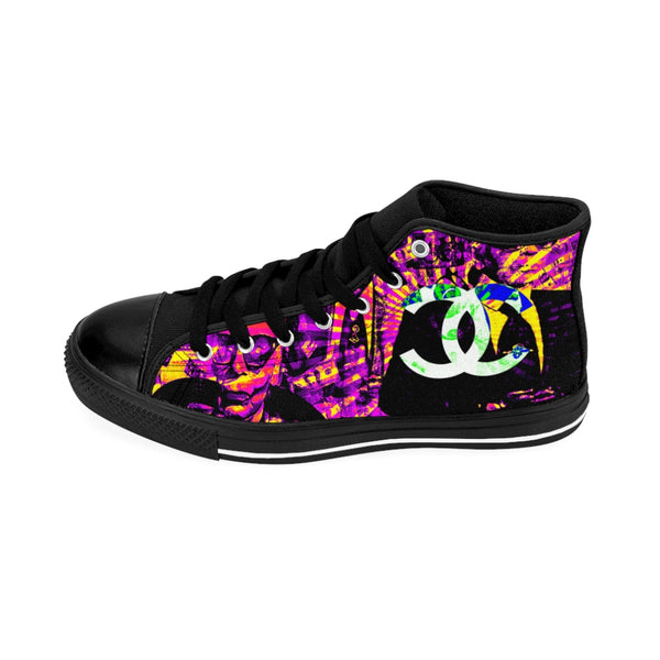 Fashion Karl Lagerfeld Like Chanel Inspired Pink Women's High-top Sneakers Patriot Day Sale!-All Over Print, Shoes, Women's Clothing-Etsy-TrumpVaderStore-TheWorlddiscountstore