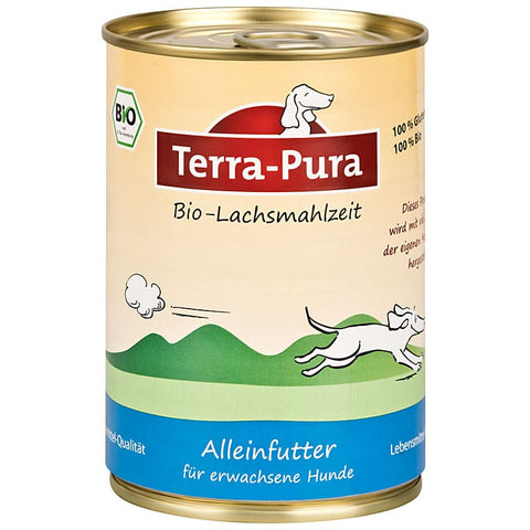 Bio Lachsmahlzeit 12 x 400 gr Dosen - Pet Feels Good Graf