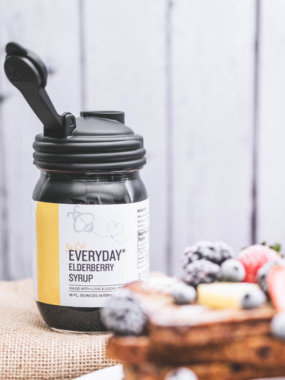SoCAL Everyday® Elderberry - 15 oz made with Local SoCal Honey PLUS Reusable Mason Jar Pour Spout