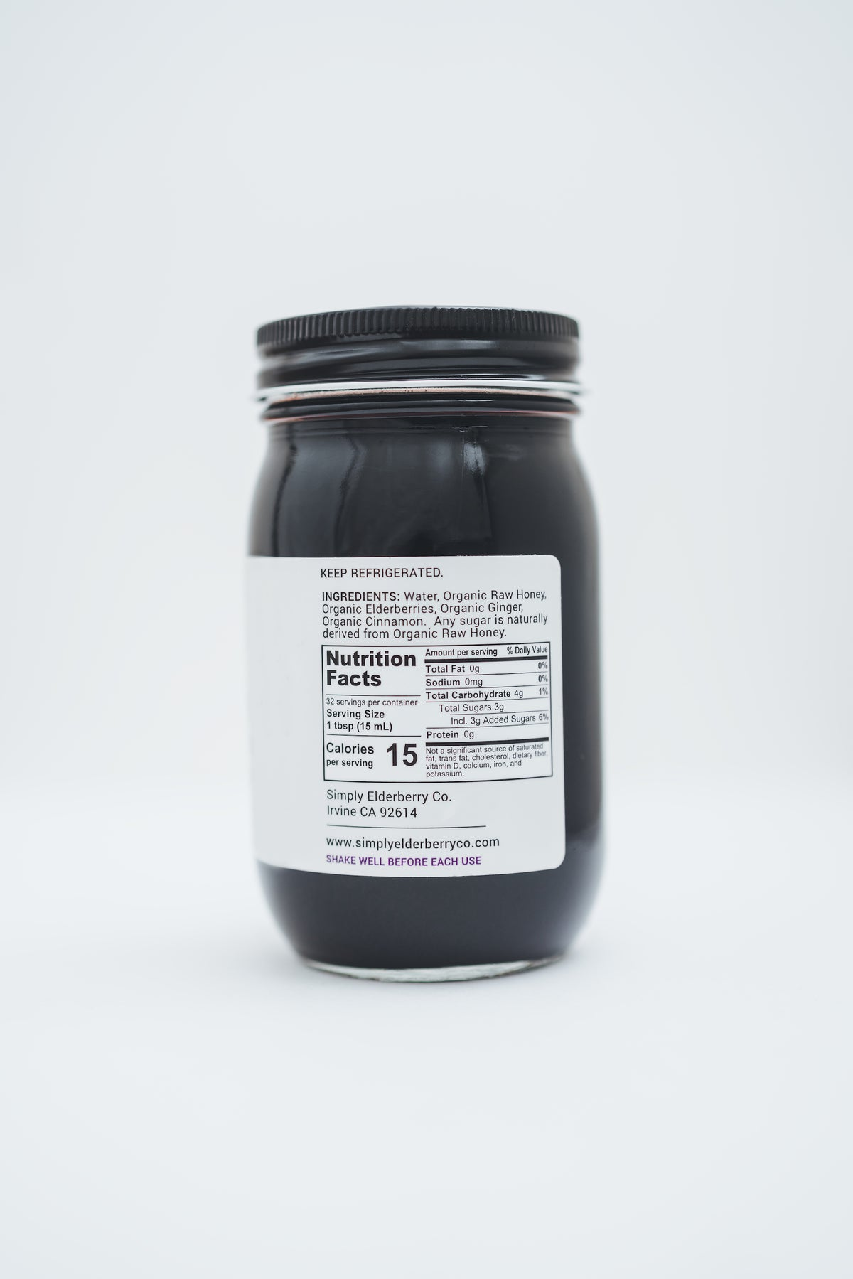 100% Organic Everyday® Elderberry made with Organic Raw Honey (16oz)