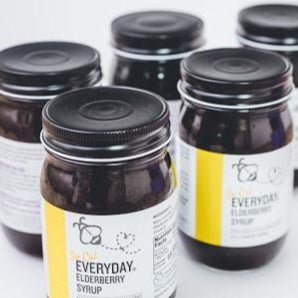 """So Cal Stock Up"" - Bulk of So Cal Everyday Elderberry Syrup - 5 Yellow Jars (15oz each)"