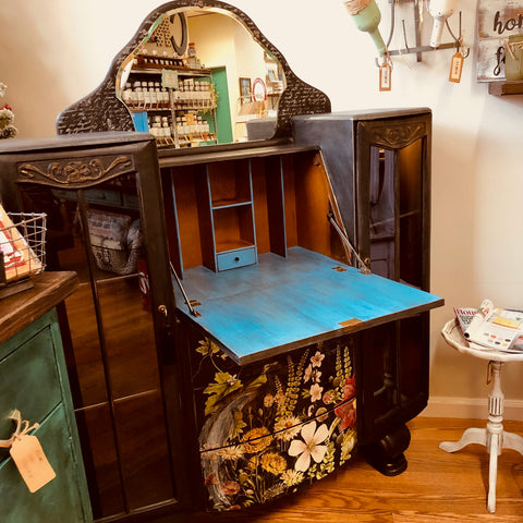 Midnight Garden Art Deco Writing Desk