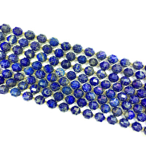 Lapis Lazuli Lucky Faceted Beads 10mm