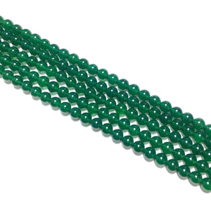 Green Chalcedony Round Beads 6mm