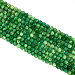 Green Leaf Jade Round Beads 6mm
