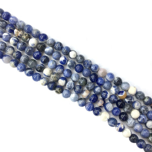 Porcelain Sodalite Round Beads 6mm
