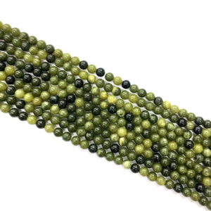 Canadian Green Jade Round Beads 4mm
