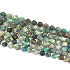 Chrysocolla Lucky Faceted Beads 10mm