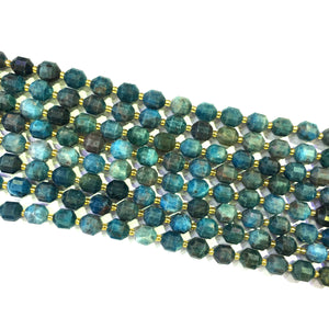 Apatite Lucky Faceted Beads 10mm