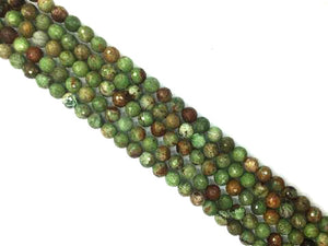 African Green Opal Faceted Rounds 8Mm