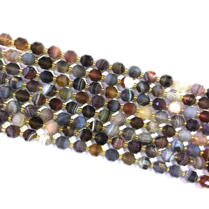 Botswana Agate Lucky Faceted Beads 10mm