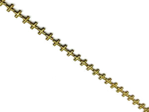 Hematite Gold Cross 12Mm