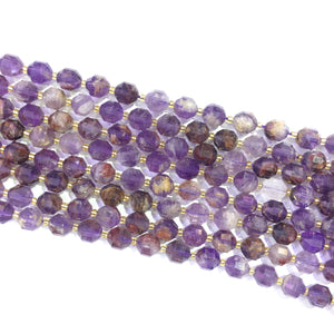 Purple Phantom Crystal Lucky Faceted Beads 10mm