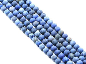 Matte Dumortierite Round Beads 8Mm