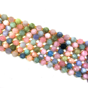 Morganite Lucky Faceted Beads 10mm
