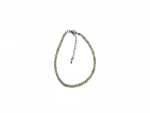 Peridot Super Precision Cut Rounds 3mm Bracelet
