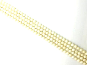 Bamboo Coral White Faceted Rounds 5Mm