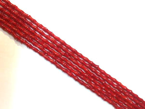 Bamboo Coral Red Cube 4X8Mm