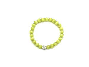 Artificial Opal Apple Green Metal Guajian Bracelet 8Mm