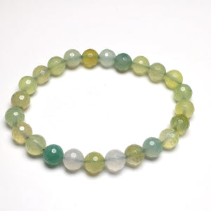 Colored Agate 8mm Faceted Beads Bracelet