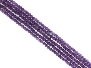 Lava Stone Ab Purple Round Beads 6Mm