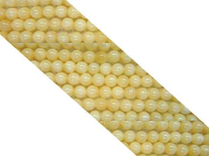 Yellow Calcite Round Beads 6Mm