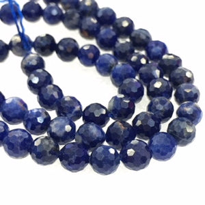 Lapis Faceted Round Beads 6Mm