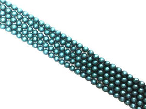 Matte Shell Pearl Navy Faceted Rounds 10Mm