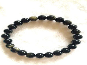 Golden Obsidian Bracelet 4Mm