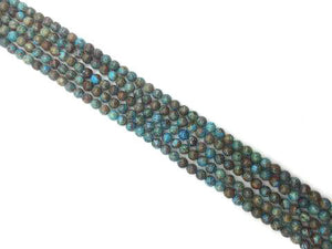 Blue Wooden Jasper Round Beads 14Mm