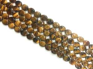 Tiger Eye Flat Oval 12X14Mm