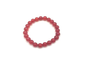 Color Stone Red Bracelet 8Mm