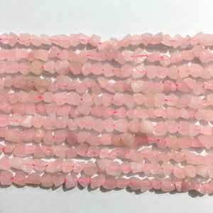 Rose Quartz Raw Nugget 6X8-8X10mm